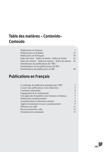 Distribuidores de las publicaciones del IRC - ACT - Advanced ...