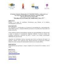 """""""Introducción a la Producción Audiovisual: Cine y TV"""" - GFDD"""