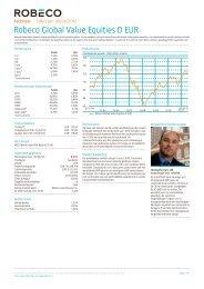 Robeco Global Value Equities D EUR