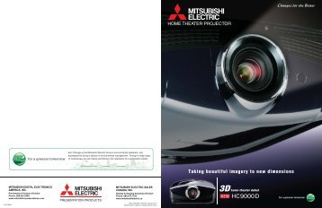 home theater projector - Mitsubishi Presentation Products