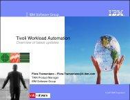 IBM Tivoli Workload Scheduler Automation - Nordic TWS conference