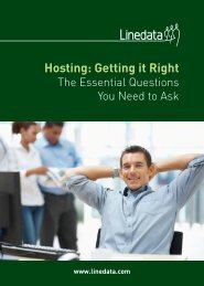 Hosting: Getting it Right - Linedata