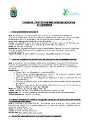 cursos gratuítos da concellaría de xuventude - Concello de Vigo