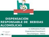 dispensación responsable de bebidas alcohólicas