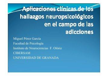 Neuropsicoloxia das drogodependencias.Miguel Perez Garcia [Sólo ...