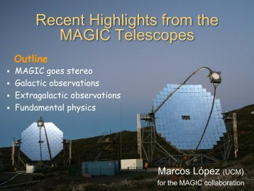 Recent highlights from the MAGIC telescopes - INAF-IASF-Roma
