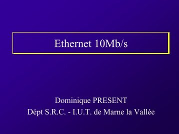 Réseaux Ethernet