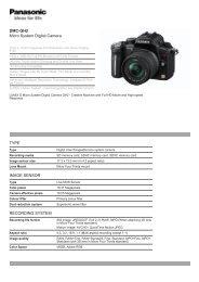 DMC-GH2 Micro System Digital Camera TYPE IMAGE SENSOR ...