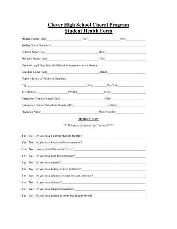 STUDENT HEALTH FORM - The American School of Bangkok