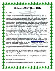 Christmas Craft Show 2012 - Clover School District