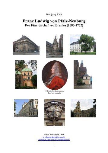 Bischof von Breslau - Franz-Ludwig von Pfalz-Neuburg