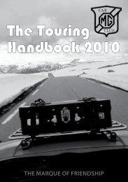 The Touring Handbook 2010 - MG Car Club Finland Ry