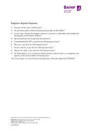 Perguntas e Respostas frequentes (FAQ's) – 2º pack - Banif