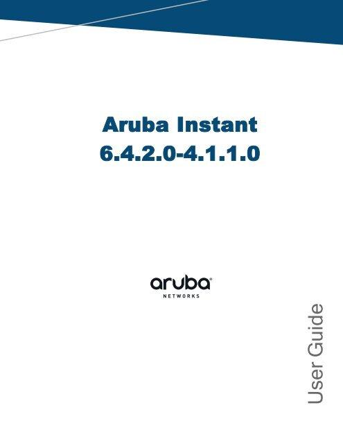 Aruba Disable Multicast