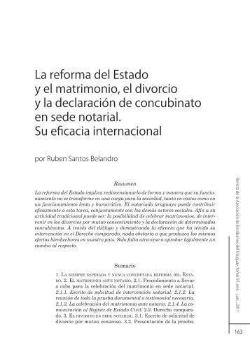 La reforma del Estado y el matrimonio, el divorcio y la declaración ...