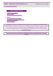 Preçário - Completo BBI 20110125 - Banif