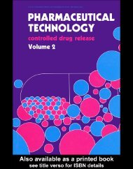 Pharmaceutical Technology: Controlled Drug Release, Volume 2