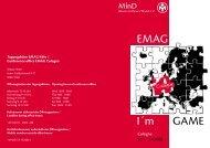 EMAG I´m GAME - EMAG 2008 Cologne - Mensa in Deutschland e.v.