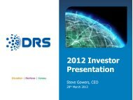 2012 Investor Presentation - DRS