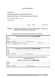 Minuta da Carta de Representação - Banif
