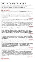 CHU de Québec en action - CHUQ