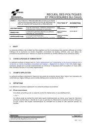 politique et procédure relatives aux frais d'évaluation des ... - CHUQ
