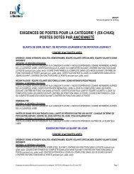 Exigences affichage ASIC sept 2013 - CHUQ