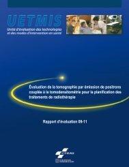 Évaluation de la tomographie par émission de positrons ... - CHUQ
