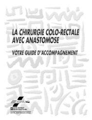 La chirurgie colo-rectale avec anastomose - CHUQ