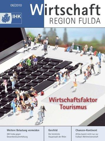 Wirtschaftsfaktor Tourismus - IHK Fulda