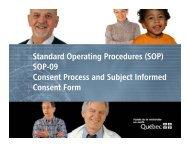 Standard Operating Procedures - SOP-09