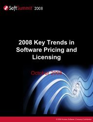 Download the 2008 Key Trends in Pricing and ... - SoftSummit