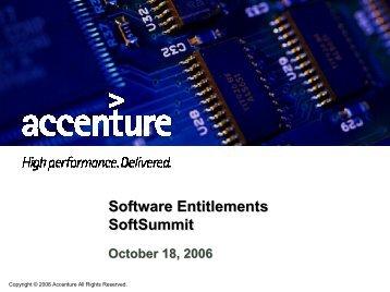 Software Entitlements SoftSummit