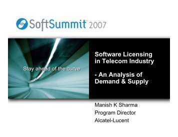 Software Licensing in Telecom Industry - An Analysis ... - SoftSummit