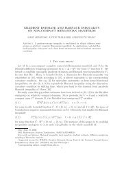 gradient estimate and harnack inequality on non ... - Mathématiques