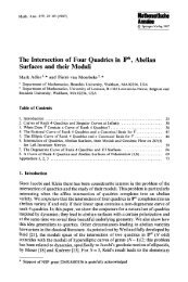 The intersection of four quadrics in P^6, abelian surfaces and their ...