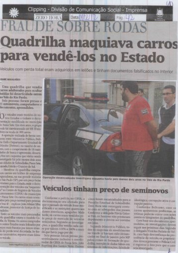 Quadrilha maquiava carros - Polícia Civil RS