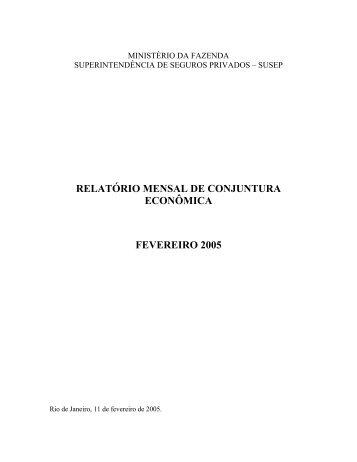 ANÁLISE DE CONJUNTURA ECONÔMICA - Susep