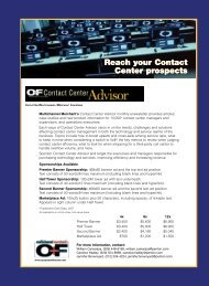 Reach your Contact Center prospects Reach your Contact Center ...