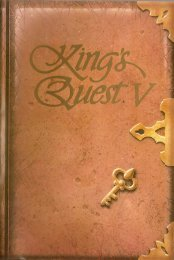 Manual de King's Quest V - La Aventura es La Aventura