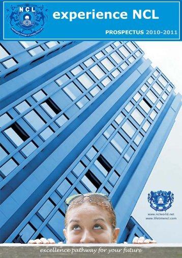 prospectus 2010-2011 - nclworld