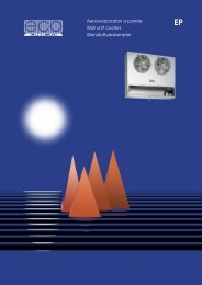 Aeroevaporatori a parete Wall unit coolers Wandluftverdampfer