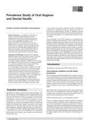 Prevalence Study of Oral Hygiene and Dental Health Fatima A ...