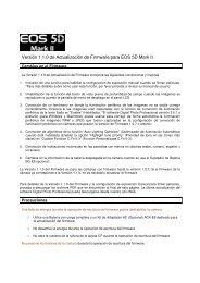 Versión 1.1.0 de Actualización de Firmware para EOS 5D Mark II