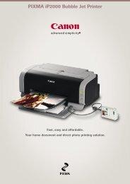 PIXMA iP2000 Bubble Jet Printer