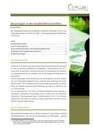 Neuerungen in den Großkreditvorschriften - 1 PLUS i GmbH