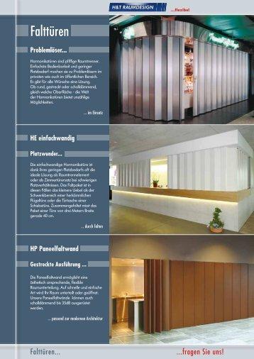 H & T Raumdesign AG, Falttüren