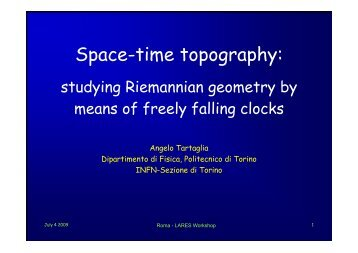 Space-time topography: studying Riemannian ... - LARES Mission