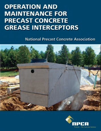 Grease Interceptor O & M Manual (PDF) - National Precast Concrete ...
