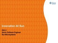 Innovation At Sun